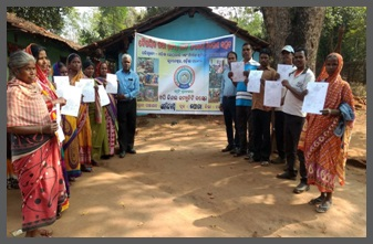 certificate distributed among all trained mason at Champua Basti at Barbil