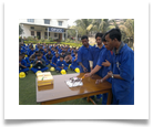 OPJCC Punjipatra student celebrating New Year 2013