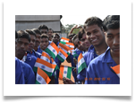 OPJCC students celebrating Republic Day