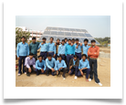 Solar pump installed by OPJCC Godda trainees.